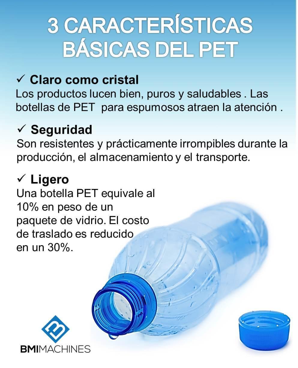 Caracteristicas del PET Plastico