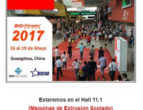 Chinaplas 2017 – Visitenos en el stand 11.1A11